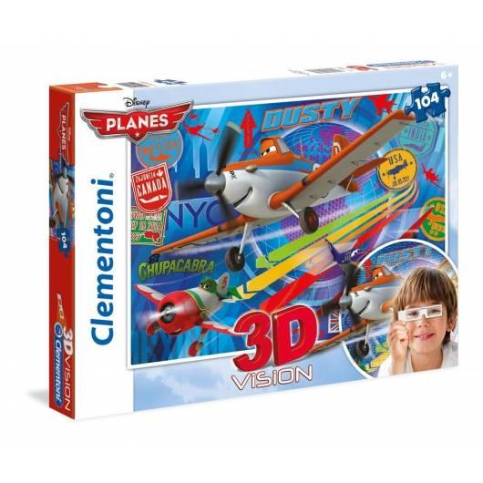Puzzle 104 3D Vision Samoloty