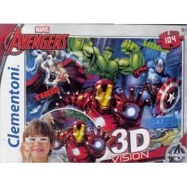 Puzzle 104 3D Vision Avengers