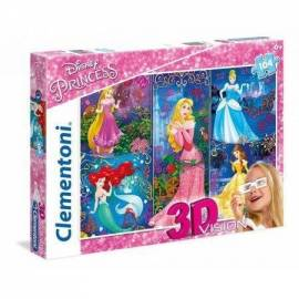 Puzzle 104 3D Vision Księżniczki 2