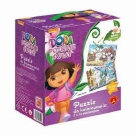 Big puzzle - do kolorowania Dora