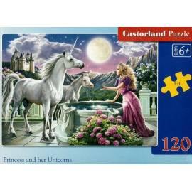 Puzzle 120 Księżniczka i jej jednorożce CASTOR
