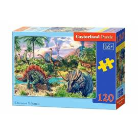 Puzzle 120 Dinosaur Volcanos CASTOR
