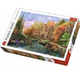 Puzzle 1500 Chatka nad jeziorem TREFL