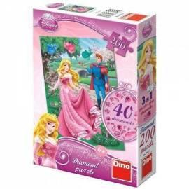 Puzzle 200 Diamond Puzzle Śpiąca Królewna DINO