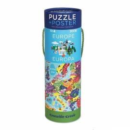 Puzzle 200 el. - Mapa Europy