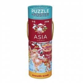 Puzzle 200 el. - Mapa Azji