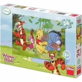 Puzzle 24 Kubuś Puchatek na kwitnącej łące DINO