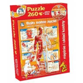 Było sobie życie-Mięśnie i układ kostny puzzle+DVD