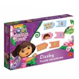 Puzzle - Liczby. Dora poznaje świat ALEX