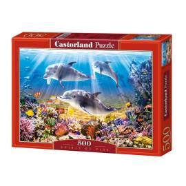 Puzzle 500 Delfiny CASTOR