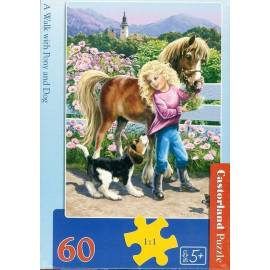 Puzzle 60 A walk with Pony and Dog CASTOR