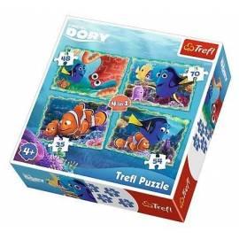 Puzzle 4w1 Podwodne zabawy TREFL