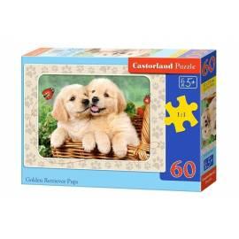 Puzzle 60 Golden Retriever Pups CASTOR