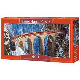 Puzzle 600 Landwasser Viaduct Swiss Alps CASTOR