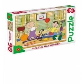Puzzle 90 - Bolek i Lolek na sali gimn. ALEX