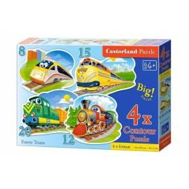 Puzzle x 4 - Zabawne pociągi CASTOR