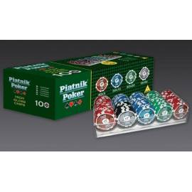 Żetony pokerowe - 100 żetonów 14g PIATNIK