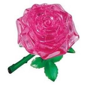 Crystal puzzle - Różowa róża