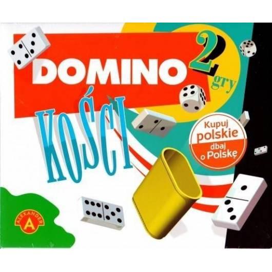 Gra 2w1 Domino + Kości ALEX