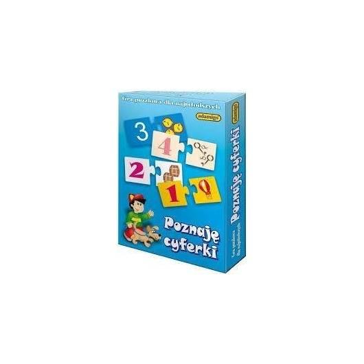 Gra puzzlowa - Poznaje cyferki