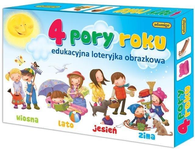 Edukacyjna loteryjka obrazkowa - 4 pory roku