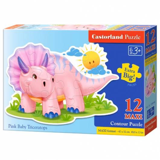 CASTOR 12 MAXI Różowy Triceratops
