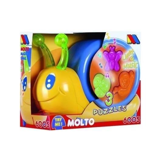 Magiczny ślimak do ciągnięcia, zabawka interaktywna Molto