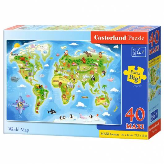 CASTOR 40 EL. MAXI Mapa świata