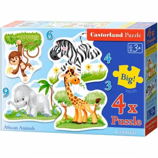 CASTOR 22 EL. 4+5+6+9 Zwierzęta Afryki