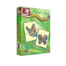 Cekinowe Motyle TOY KRAFT