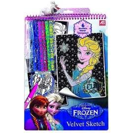 Aksamitna kolorowanka z pisakami - Frozen