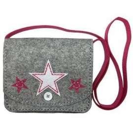 Filcowe Robótki - torebka kopertówka Gwiazdy