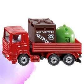Siku 08 - Ciężarówka z pojemnikami na odpady S0828