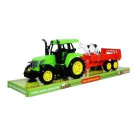 Moje gospodarstwo - Traktor z przyczepą i krową SWEDE