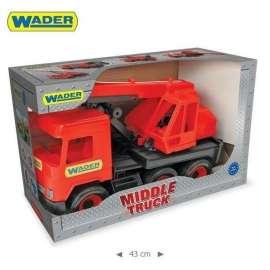 Middle truck - Śmieciarka czerwona WADER