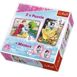 Puzzle 2w1+ memos - Zakochana Śnieżka TREFL