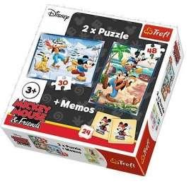 Puzzle 2w1+ memos - Frajda z przyjaciółmi TREFL