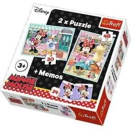 Puzzle 2w1+ memos - Hobby Minnie TREFL