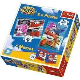 Puzzle 2w1+ memos - Podniebni bohaterowie TREFL