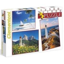 Puzzle 1x500+2x1000 Krajobrazy