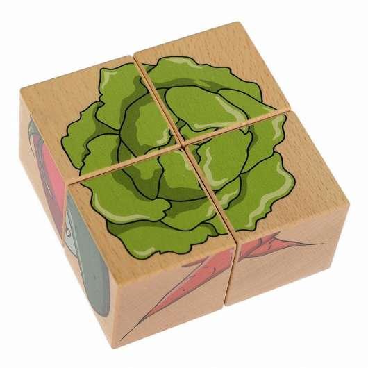Układanka przestrzenna 4 klocki - Warzywa
