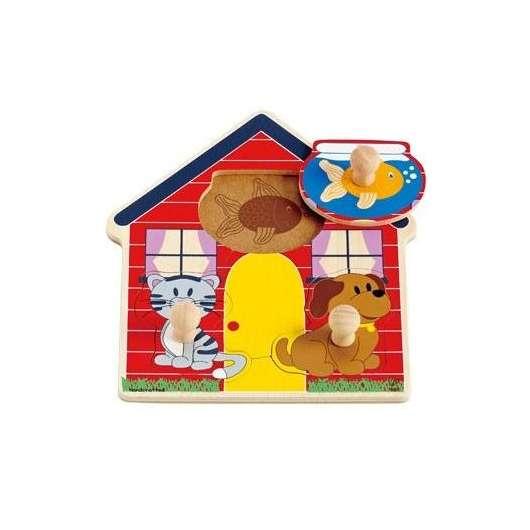 Puzzle Domek zwierząt