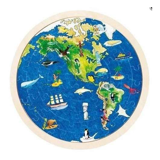 Układanka - Mapa Świata
