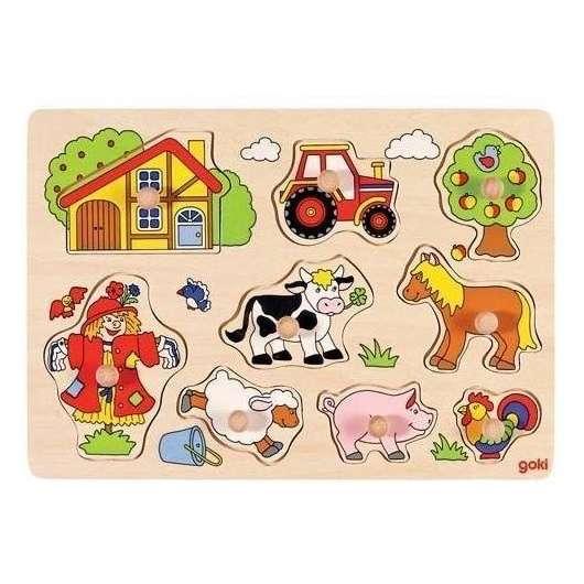 Puzzle z uchwytami Farma