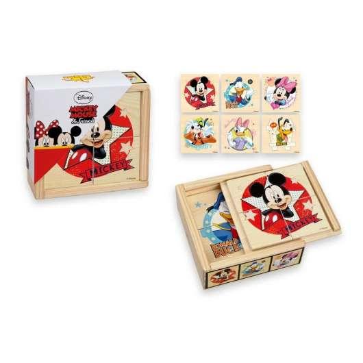 Drewniane klocki małe Mickey
