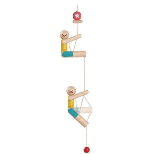 Drewniany akrobata - wspinaczka