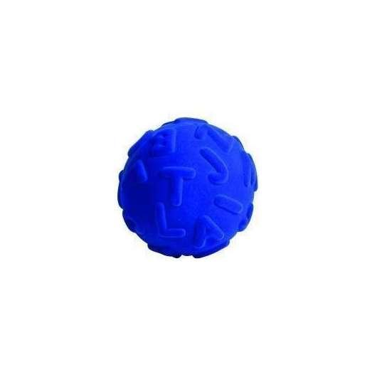 Piłka alfabet duże literki niebieska
