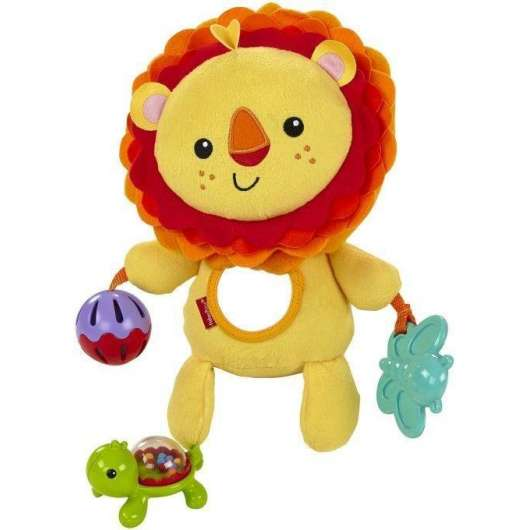 Lew z zabawkami