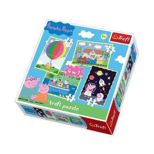 Puzzle 4w1 Przygody Peppy TREFL