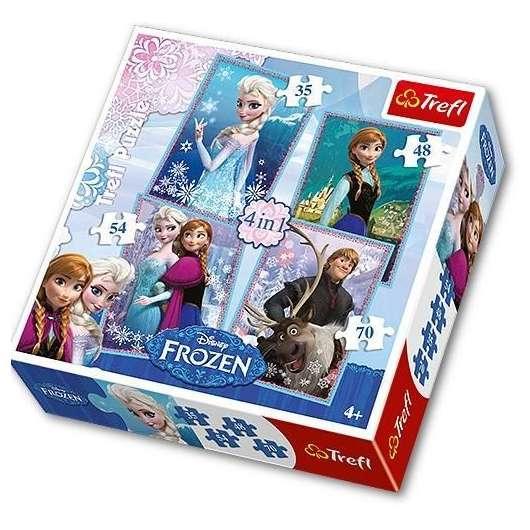 Puzzle 4w1 Frozen TREFL